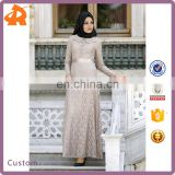 customize your latest abaya designs,high quality hot selling lace muslim long bridal dress