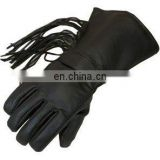 HMB-2035A LEATHER BIKER THINSULATED FRINGS GLOVES
