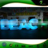 Custom Inflatable Led Lighting Letter Balloon Brand Advertising Helium Ball Trade Show Parade Inflatables