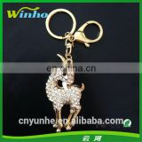 Metal Sheep Rhinestone Keyring