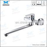 Classic long neck 360 degrees rotate traditional wall mounted kitchen mixer tap best sink mixer faucet