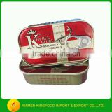 Manufacturer sardine in oil 125g club can