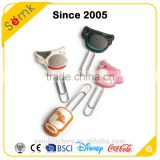 Novelty animal head shape stainless steel clear plastic custom paper clip