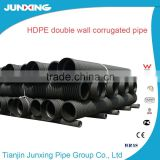 SN4 SN8 hdpe double wall corrugated drainage pipe plastic culvert pipe for sewer drainage farm roads culvert