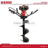gasoline earth auger driller,ice drill RM-ED49C,drill machine for wood