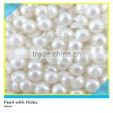 Sew on Pearls With 2 Holes White Plastic Flatback 6mm/8mm                                                                         Quality Choice