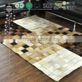 Natural Cowhide Rugs Hot Patchwork Cow Skin Carpet                                                                         Quality Choice