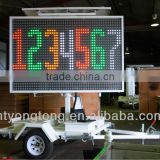 solar power LED Full Matrix VMS trailer