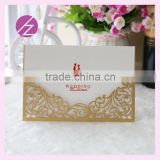 light gold pocket wedding invitation with custom printing inside laser cut name cards baby shower invitation cards                                                                                                         Supplier's Choice