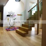 natural oiled prefinished white oak stair tread