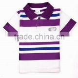 New arrival hot-sale boy kids striped t-shirt boy polo shirts children golf tees producer