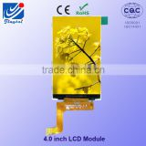 "4.0"" inch outdoor lcd display 480*(RGB)*800 dots without touch small lcd display module"