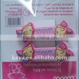 Promotional and lovely cartoon soft pvc kids hair clip