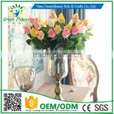 Greenflower 2016 Wholesale Real Touch Latex PU Gemstone rose China Artificial Flowers Rose for wedding decoration