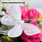 feather butterfly decorative butterfly wedding flying feather butterfly decoration(MBU-001)