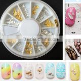 Sheel Star leaves Style Nail Art Decoration Tips Nail Art Wheels Metal Stud Nail Art Designs