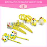 mixed yellow lovely animal shape metal kids pin up baby girl handmade hair accessories making