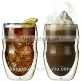 2015 Best Selling Double Wall 12 oz Beverage & Coffee Glasses/Insulated Drinking Glasses/glass cup/Good Design shot glass