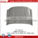 car engine hood cover with Turbo Hole for D-MAX 2008-2012 manufacturer