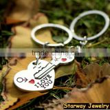 >>New arrival I LOVE YOU Metal heart keychain for Valentine's gift ,Heart Couple Keychain/