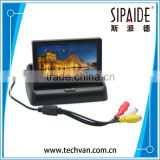 "SPD63 4.3"" Color TFT LCD Folding Car Parking Assistance Monitors DC 12V Foldable Car Monitor With Rear View Camera"