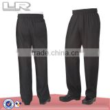 LR Basic Baggy Zipper Fly Black Chef Pants