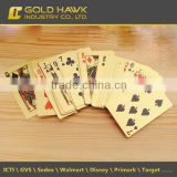 Waterproof Creative Plastic Poker Gold Playing Card for Family