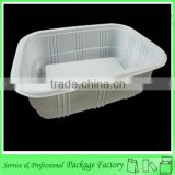 Biodegradable plastic blister disposable meal tray