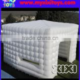 XIXI 5m white inflatable LED cube tent,outdoor inflatable lawn party tent