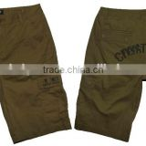 High quality men's solid color baggy 1/2 pants man 100% cotton shorts wholesale manufacturer