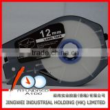 Compatible Camon tape CH-1112T 12mm Tranparence label tape cable id label for cable id printer mk2500