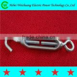 High quality cutomized drop forged galvanized turnbuckle electric line hardware