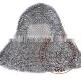 MEDIEVAL CHAINMAIL COIF ARMOR - ARMOR CHAIN MAIL HOOD - MEDIEVAL RENAISSANCE HAUBERGEON WARRIOR CHAINMAIL ARMOR