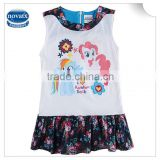 (H6392) 2015 China manufacturer children girl clothes my little pony dresses sleeveless baby frocks summer dresses nova kids