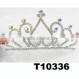 bulk princess AB colored rhinestone birthday tiaras for adults girls