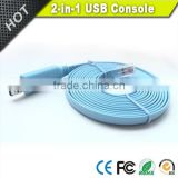 Classical blue FTDI Micro usb+USB to RJ45 console cable for Cisco router