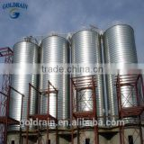 Assembly flat bottom corrugated aeration systems for silo
