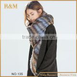 Newest factory sale attractive style double knit scarf pattern for wholesale