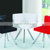 Hot sale artificial leather powder coated legs metal dining chair