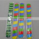 Wholesale snap wristband cheapest silicone rubber bracelets silicon slap bracelet silicone slap band
