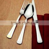 hot selling zinc alloy metal soup spoon