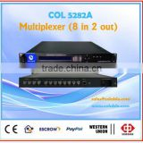 COL5282A spts and mpts multiplexer,hdmi video multiplexer,8 channels asi input multiplexer 2 channels output