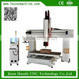 HS-1224 5-Axis machining center 5 axis CNC Router for milling and woodworking machine with factory price on sale