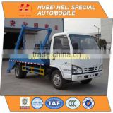 Japan technology 4x2 small 4cbm swinging arm garbage truck diesel engine 4JB1CN 98hp                                                                         Quality Choice
