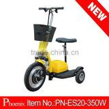 Rang 25-30km front suspension folding 350w 500w 3 wheel electric scooter zappy (PN-ES20-350W )