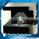 Hot!2016 Christmas laser 3D hologram projector showcase, display box, pyramid.