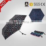 Specail design compact folding 19inch*6ribs small size sun umbrella