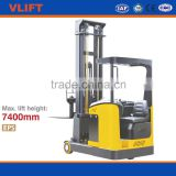 1.5 Ton Electric Reach stackers truck, Max. lift height 7400mm