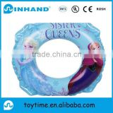 customised PVC inflatable kids swimming ring with cartoon printed, float swimming tube for baby
