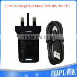 For HTC One M9 M8 Mains Charger High Output 1.5A Wall AC Adapter TC-P900 UK Genuine Original OEM